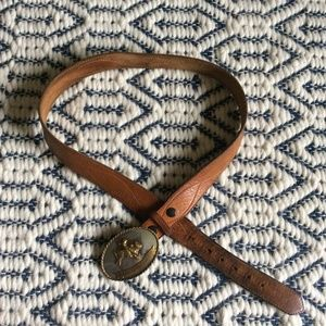 Vintage leather rodeo/cowboy style leather belt L